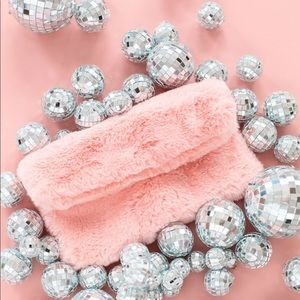 Studio DIY Can't Clutch This Pink Faux Fur Clutch
